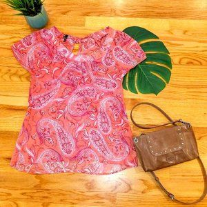 Maurices Sheer Paisley Top